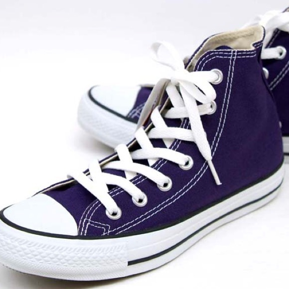Dark Purple Converse   Poshmark